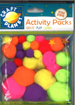 Pom pom assorted pastel colours 30 pack