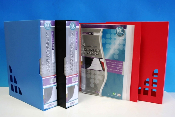 100 Pocket Display Book A4