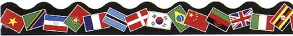 Border Terrific Trimmers World Flags - 39 Feet