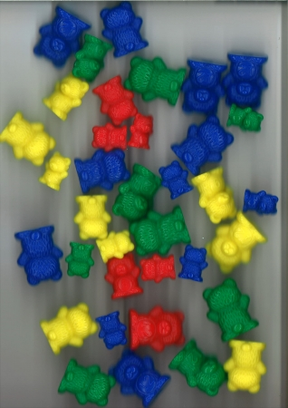 Proportional Bears Assorted Colours 192 Piece