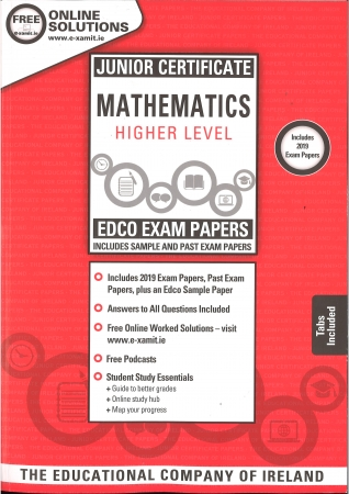 Junior Cert Maths Higher Level - Includes 2019 Exam Papers - Sample & Past Exam Papers