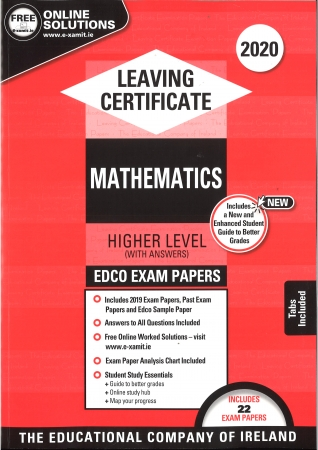 Leaving Cert Maths Higher Level - Includes 2020 Exam Papers