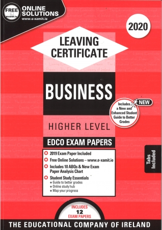 Leaving Cert Business Higher Level - Includes 2020 Exam Papers