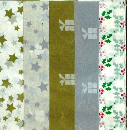 Tissue Paper X-mas 5 Sheets - Assorted Designs