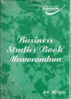 Business Studies Memorandum 40 PAGE SINGLE