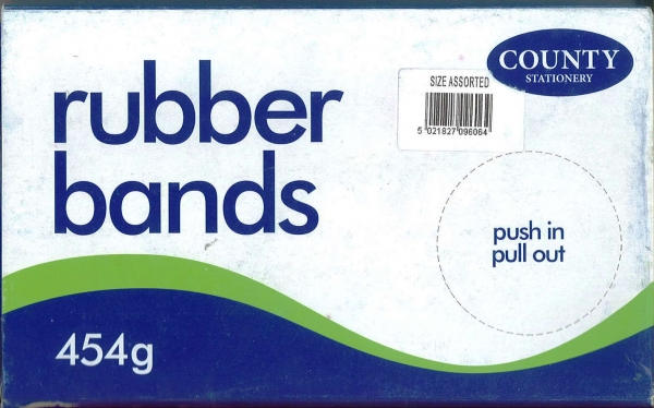 Rubber Bands Assorted Sizes Large Box - 454g