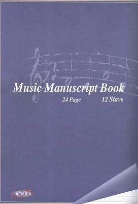 Music Manuscript Copy 24 Page - 12 Stave