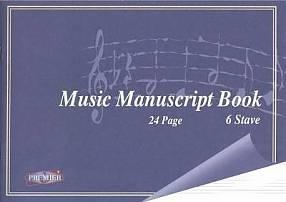 Music Manuscript Copy 24 Page - 6 Stave