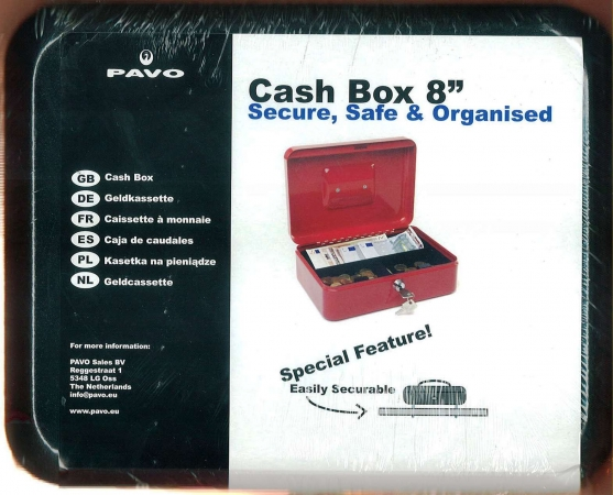 "Cash Box 8"" Black"