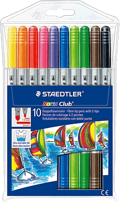 Staedtler Fibre Tip Double Ended Markers 10 Pack