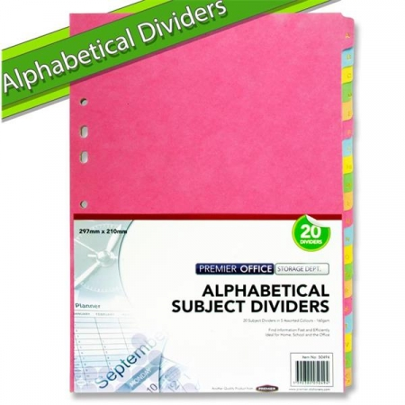 Dividers A-Z Index