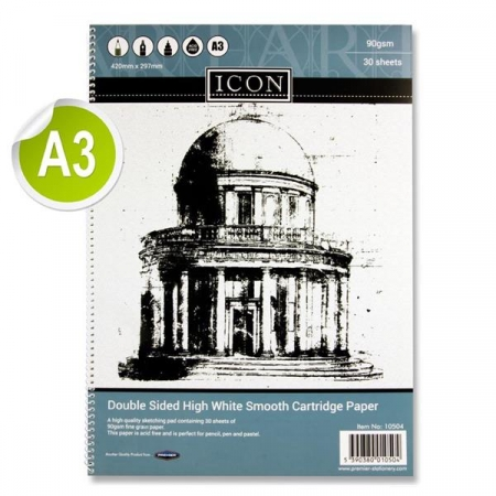 Sketch Pad A3 90gsm - 30 Sheets - Spiral
