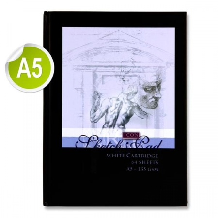 Sketch Book Hardcover A5 135gsm - 64 Sheets