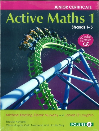 Active Maths 1 Junior Cert 2015 Onwards Pack - Textbook & Activity Book - Strands 1-5 - Junior Cycle Project Maths