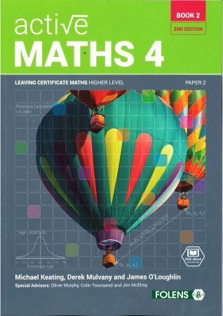 Active Maths 4 Book 2 2nd Edition Textbook - Strands 1 & 2 - Leaving Certificate Higher Level Project Maths