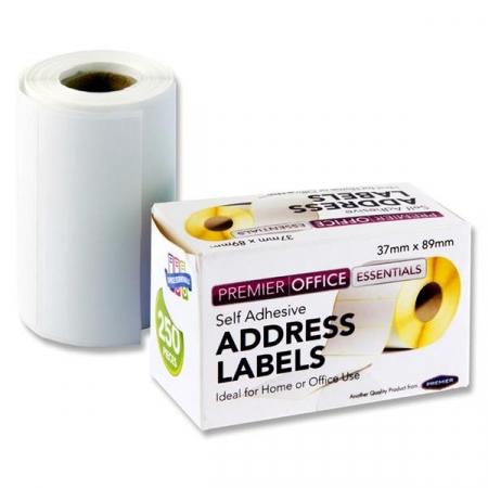 Address Labels Roll - 250's 89X37mm