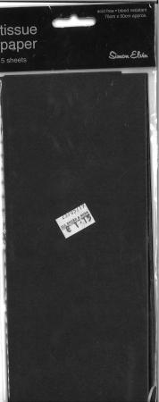 Tissue Paper 5 Sheets - Black