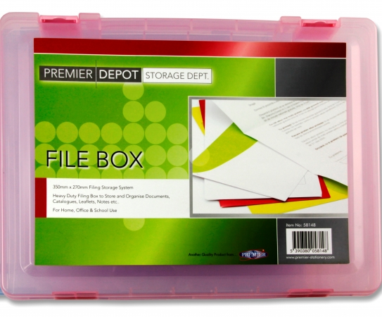 Box File Clear Plastic - 2 Inch