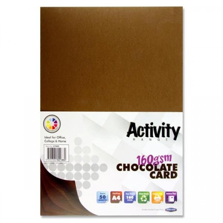 Brown Card (Chocolate) A4 Pack 50 - 160gsm