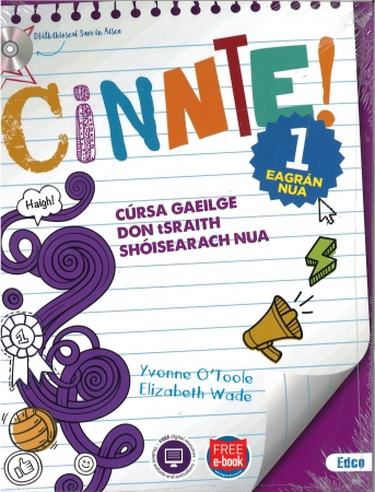 Cinnte!1 Eagrán Nua Pack - Junior Cycle Irish - Includes Free eBook