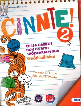 Cinnte!2 - Pack Ordinary Level (Gnáthleibhéal) - Junior Cycle Irish - Includes Free eBook