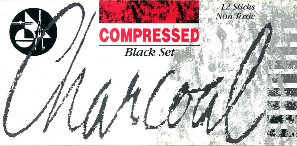 Charcoal Compressed 12 Sticks