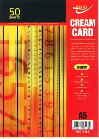 Cream Card A5 50 Pack 160gsm