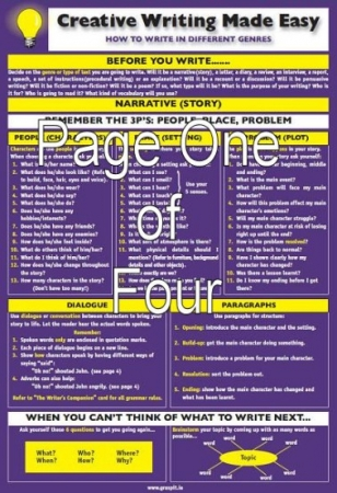 Creative Writing Made Easy! Glance Card