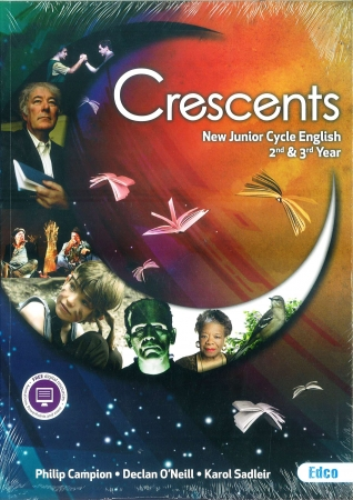 Cresents Pack - New Junior Cycle English For Second & Third Year - Textbook & Student Portfolio Workbook - Includes Free eBook