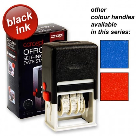 Concept Self-Inking Date Stamper - Assorted Colours