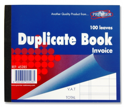 "Duplicate Book Invoice 5""x3"" - Carbon Paper"