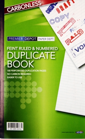 "Duplicate Book Feint 8""x5"" - Carbonless"