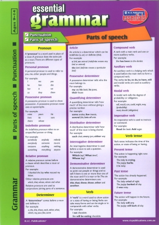 Essential Grammar Glance Card-Ages 9-14