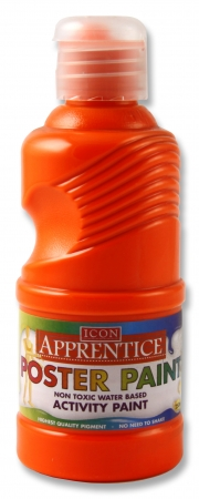 Poster Paint Flourescent Orange 250ml