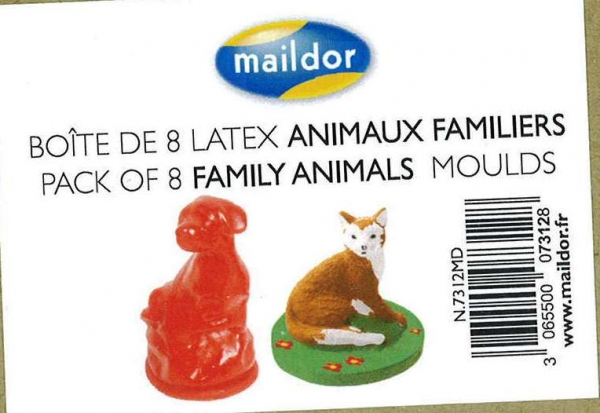 Maildor Moulds Family Animals 8 Pack