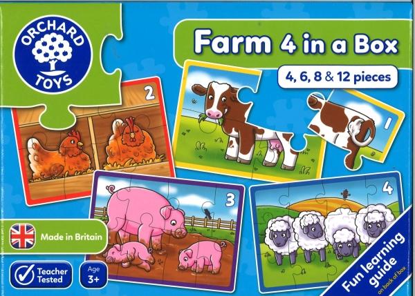Farm puzzles 4 in a box