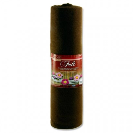 Felt Roll 45cm X 5m - Brown