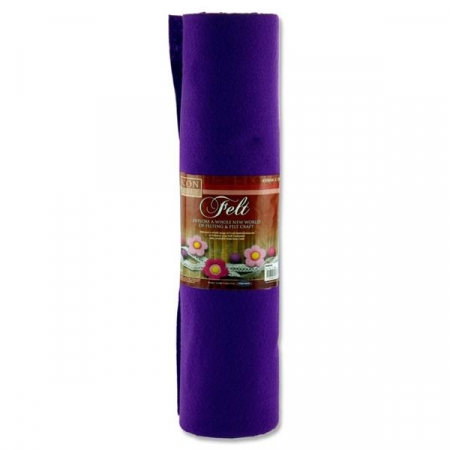 Felt Roll 45cm X 5m - Purple
