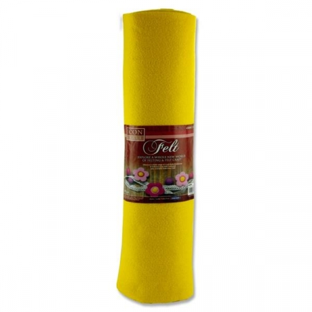 Felt Roll 45cm X 5m - Yellow