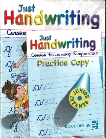 Just Handwriting: Cursive Handwriting Programme - Junior Infants - Workbook & Practice Copy