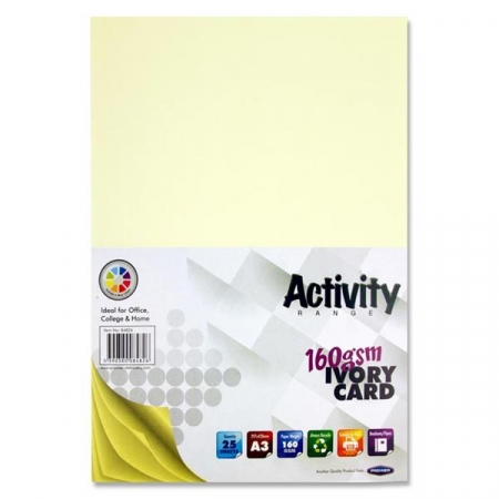 Ivory Card A3 Pack 25 - 160gsm