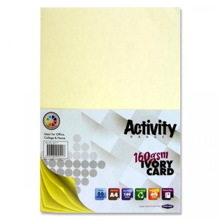 Ivory Card A4 50 Pack 160gsm