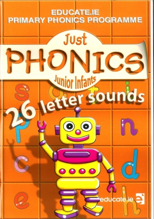 Just Phonics Junior Infants Pack - 26 Letter Sounds - Workbook & Sounds Booklet