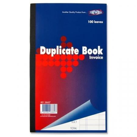 "Duplicate Book Invoice 8""x5"" - Carbon Paper"