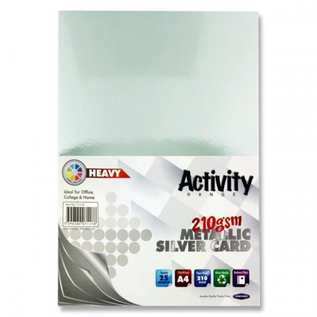 Metallic Silver Card A4 25 Pack 160gsm
