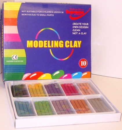 Modeling Clay Assorted Colours 10 Pack