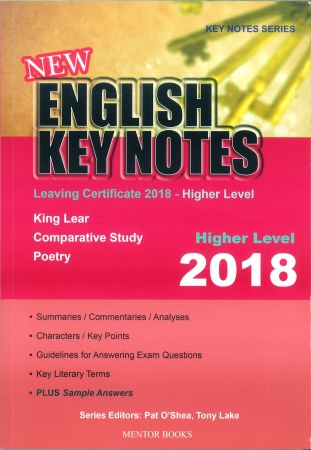 New English Key Notes 2018 - Leaving Certificate Higher Level