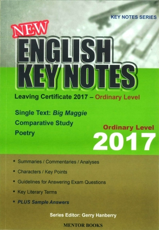 New English Key Notes 2017 - Leaving Certificate Ordinary Level