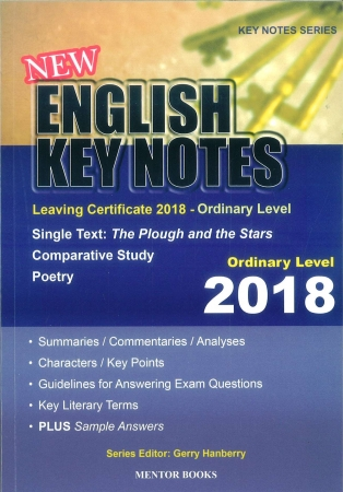 New English Key Notes 2018 - Leaving Certificate Ordinary Level
