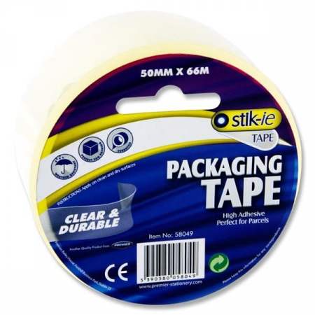 Transparent package tape 66mX50mm